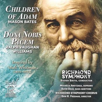 Cover Mason Bates: Children of Adam - Vaughan Williams: Dona nobis pacem (Live)