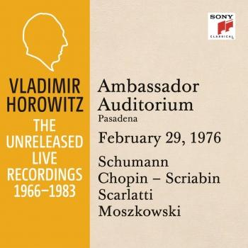 Cover Vladimir Horowitz in Recital at Ambassador College, Pasadena, February 29, 1976