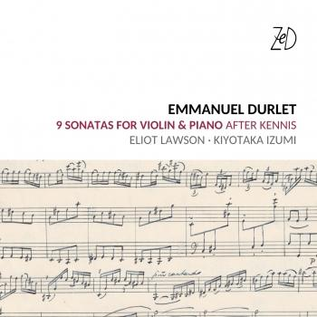Cover Emmanuel Durlet Sonatas for Piano and Violin After Kennis