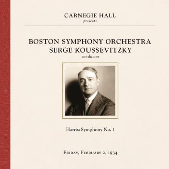 Cover Serge Koussevitzky at Carnegie Hall, New York City, February 2, 1934
