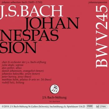 Cover Johannespassion, BWV 245