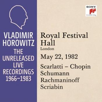 Cover Vladimir Horowitz in Recital at the Royal Festival Hall, London, May 22, 1982
