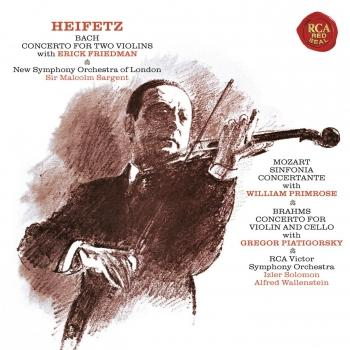 Cover Bach: Concerto in D Minor for Two Violins, BWV 1043 - Mozart: Sinfonia concertante in E-Flat Major, K. 364 - Brahms: Concerto in A Minor for Violin and Cello, Op. 102 - (Heifetz Remastered)